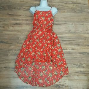 Dresses & Skirts - NWOT EASTER HIGH LOW  DRESS  ORANGE SIZE SMALL